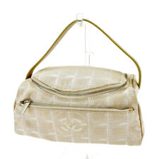 Chanel Pouch Bag Vanity New travel line Beige Silver Woman Authentic Used T4079