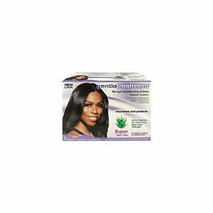 GENTLE TREATMENT No Lye Conditioning Cream, Relaxer, Straight System 2 PK, SUPER
