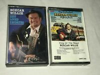 BOXCAR WILLIE KING OF THE ROAD & BEST LOVED FAVORITES CASSETTE TAPES