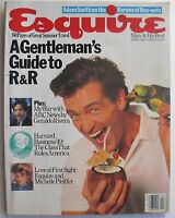 GERALDO RIVERA  MICHELLE PFEIFFER April 1986 ESQUIRE Magazine