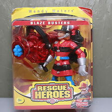 """Fisher Price Rescue Heroes """"Wendy Waters""""  2000 Blaze Busters  UPC 075380775343"""