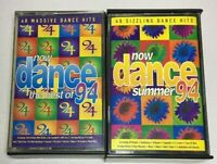 Now Dance 1994-The Best of and Now Dance summer 94 Cassettes Tape UK free post