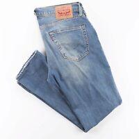 LEVI'S 511 Blue Denim Slim Straight Jeans Mens W34 L30