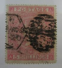 1867 Great Britain SC #57 Plate 2 Light Vertical Crease used stamp