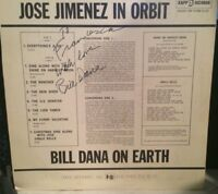 "BILL DANA ORIGINAL HAND-SIGNED & INSCR. (ON REVERSE) 1961 ""JOSE JIMENEZ"" ALBUM!!"