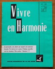 Vivre en Harmonie N°268 de 1976 ✤ R.Dextreit ✤ La Pervenche / Vitamines...