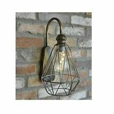 Industrial Style Bulb Wall Lantern Lamp Decoration Battery Operated No Cables