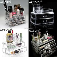 Tabletop Makeup Cosmetics Organizer Clear Acrylic Drawers Display Box Storage