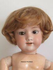 """perruque blonde courte-T25/27cm-poupée ancienne-moderne-Doll wig head sz10.5"""""""