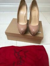Nude Christian Louboutin Bianca Heels 140mm Worn With Box, Sole Protector 39.5