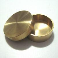 New Okito Brass Coin Box Half Dollar sized Coin Through Solid Metal Magic Trick