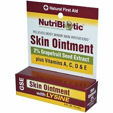 NUTRIBIOTIC SKIN OINTMENT 2% GRAPEFRUIT SEED EXTRACT WITH LYSINE FIRST AID