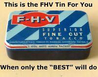"Vintage F-H-V Tobacco Tin  + ""SUPER--PACK"" | circa 1955 | Rare 1-Off Item ✔️✔️"