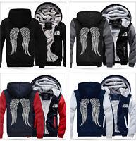 Winter Mens The Walking Dead Hoodie Zombie Daryl Dixon Wings Fleece Sweatshirts