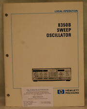 HP8350A Sweep Oscillator Local Operation