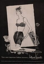 1961 HOLLYWOOD VASSARETTE Bra & Girdle Vintage Lingerie Fashion Underwear AD