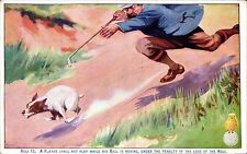 Golf Comic / North British Rubber Advert. Rule 13. A Player Shall Not Play......