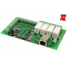 Scheda Ethernet 4 relè 16 A, 8 I/O digitali e 4 ingressi analogici - DS3484