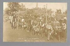 Red Lake MINNESOTA RPc1910 CHIPPEWA INDIANS 4th of July DANCE Ojibway RICHARDSON