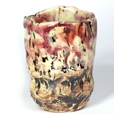 "Skulptur Becher ""Höhle Lascaux"" 10cm b3 Unikat Keramik Andreas Loeschner-Gornau"