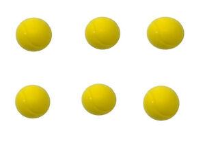 E-Deals 70mm Soft Foam/Sponge Balls - 6 Yellow
