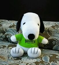 Limited Edition NEW KNOTTS BERRY FARM SNOOPY With Green Shirt Plush Animal Toy