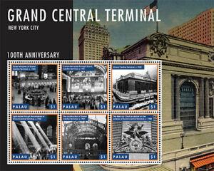 Palau - 2013 - Grand Central Terminal 100th Anniversary - Sheet of Six - MNH