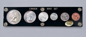 Canada - 1955 - 6-Coin Uncirculated Mint Set - In Capitol Plastics