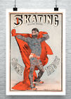 Skating Tattooed Man French Sideshow Poster Giclee Print on Canvas or Paper