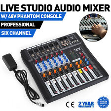 ELM CT60S-USB 6 Channels Mic/Line Audio Mixer Mixing Console Gain USB DJ