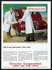 1947 CHRYSLER Corporation Vintage Original Print AD Creative Imagination working