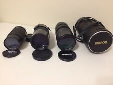 Nikon Lens Lot Tamron 200mm Prime Akino GL & Promaster Zoom 80-200mm SLR 35mm