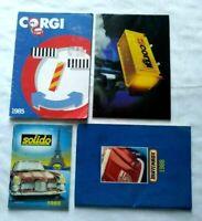 4 X MODEL CARS CATALOGUES: CORGI 1981, CORGI 1985, matchbox 1988, SOLIDO 1988
