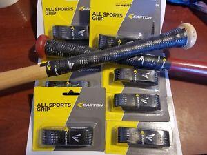 "8 Black Easton Cushion Bat Grips 1.6 mm ""All Sport Grip"" Baseball, Softball Golf"