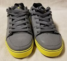 TONY HAWK Mens Size 13 SHOES Sneakers Loafers Gray Canvas w/ Yellow Trim NWOB