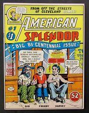 AMERICAN SPLENDOR # 1, HARVEY PECKAR SIGNED R CRUMB ILLUSTRATIONS COUNTERCULTURE