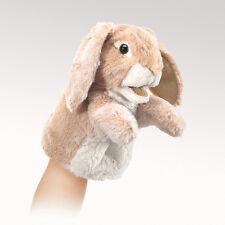 Folkmanis 2944 Little Lop Rabbit Hand Puppet 18cm - designed to fit little hands