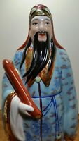 Vintage Chinese Porcelain Feng Shui Fuk Good Luck Health,Happiness Idol 14 1/4""