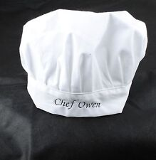 Personalised Embroidered White Chef Hat Cap Children Embroidery Child For Gift