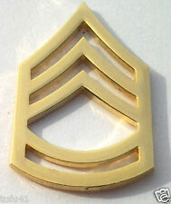 US ARMY E7 SGT. 1ST CLASS (GOLD) RANK PIN P15254 EE