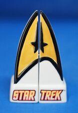Star Trek Command Insignia Ceramic Salt & Pepper Shaker Set S&P 21819