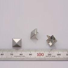 """100pcs Pyramid studs Diameter 3/8""""(10mm) DIY Rock Punk stuffs silver reform"""