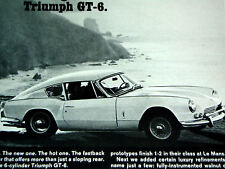 1967 Triumph Gt6 Original Ad-poster/sign/2.0 litre engine/Gt/Gt6+/fastback/1 968