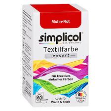 SIMPLICOL Textilfarbe EXPERT MOHN ROT 150g Farbe auch für Wolle & Seide