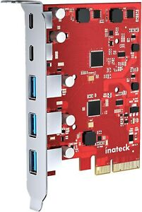 Inateck PCIe to USB 3.2 Gen 2 Card with 20 Gbps Bandwidth Wide Compatibility