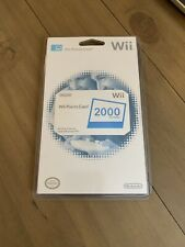 Nintendo Wii Points Card, 2000 Points, Brand New Never Used~SHIPS FREE