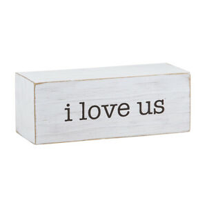 Farmhouse Message Decor Blocks I love Us