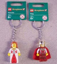 Lego Kingdoms Keychains   952958  King  &  852912 Queen    New! Retired!