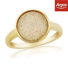 Band Stone Yellow Gold Filled Costume Rings
