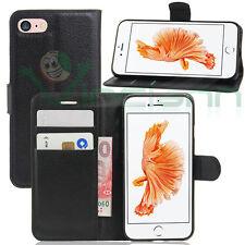 """Custodia FLIP cover NERA per iPhone 7 4.7"""" case stand+tasche libretto booklet"""